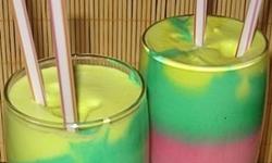 Лимонный коктейль «Все цвета радуги»Лимонный коктейль «Все цвета радуги»
