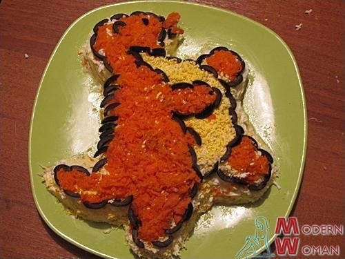 Кулинарный мастер-класс: Новогодний салат Дракоша