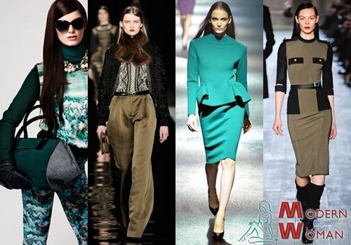 Модные цвета осень 2012