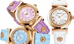 Новые часы Versace с греческим ключом на циферблате