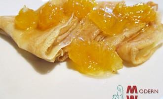 Заварные блины с апельсинами