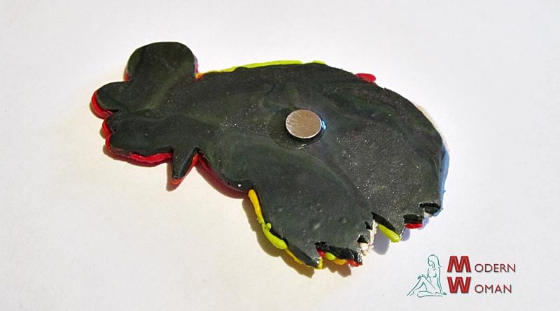 Магнит Петух из полимерной глины