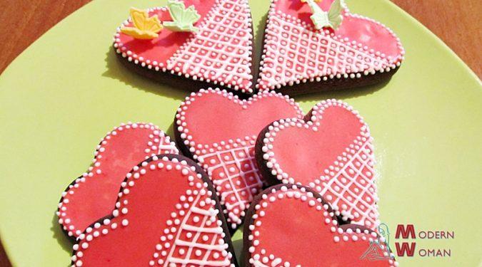 Имбирно медовое печенье «Сердечки»