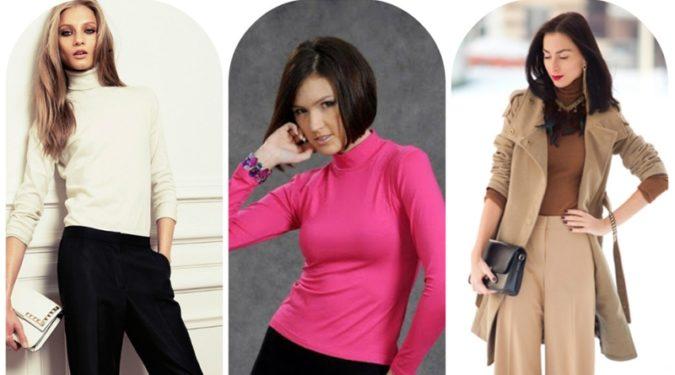 С чем носить водолазку: модные сочетания