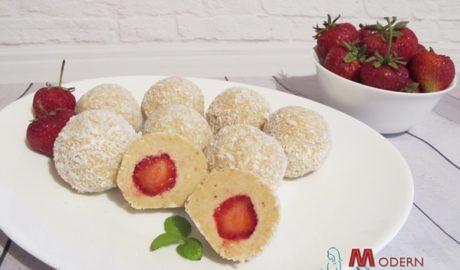 Печенье с клубникой без выпечки