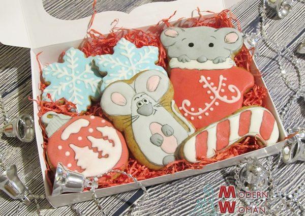 Имбирное печенье с глазурью на Новый год