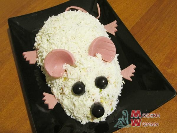 Новогодний салат Крыса